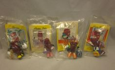 Set 4 California Raisins figures from Hardees. A bowler, shopper, skateboarder and a fashionista!  #ApplauseLicensing #CaliforniaRaisins #Ebay #UnderTheRoofTreasures #HeardItThruTheGrapeVine