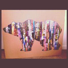Magazine strip bear I made!