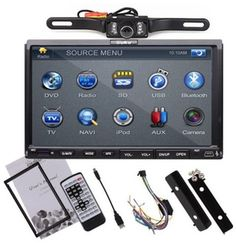 """High Def 800*480 2DIN 7"""" Touch Radio Car CD DVD MP3 Player Stereo + Rear Camera"""