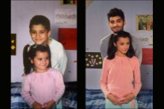 Zayn with his sister.