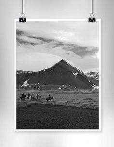 Grey scale photo landscape - Iceland - oversized print - home decor - Engineering print - travel - adventure