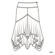 faldas - lincik it - Picasa Web Albums Clothing Sketches, Dress Sketches, Fashion Sketches, Sewing Paterns, Skirt Patterns Sewing, Circle Skirt Pattern, Croquis Fashion, Scarf Dress, Skirt Tutorial