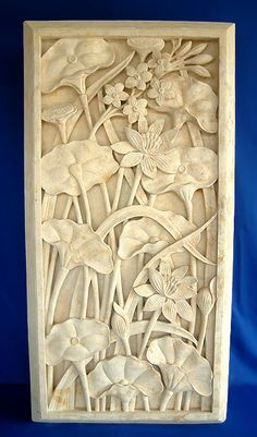 Wholesale from Bali: Stone Carvings -- Wall Plaques -- Carved Limestone Wall Plaque -- Also available in custom sizes. -- STCP-0040 by Indonesia Export