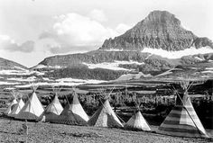 Historic photos of the Blackfoot Indian tribe on the reservations in Alberta, Canada and Montana
