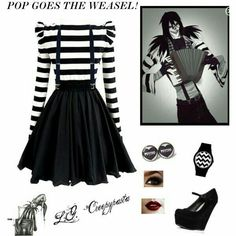 Cute Girl Costumes, Jack Creepypasta, Casual Cosplay, Cosplay Outfits, Fashion Brenda, Laughing Jack, Emo Fashion, Punk Outfits, Bitch