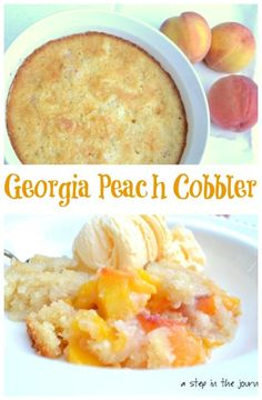 Delicious Peach Cobbler with Georgia Peaches!
