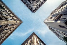 Stunning Pictures of Budapest Buildings from the Floor  Hungarian photographer Zsolt Hlinka is behind an uncommon collection of architecture pictures entitled Air Corridor. He caught buildings of Budapest during first summer days seen from the floor. He photographed corridors and shapes that constructions draw when we look up. A way to see architecture differently.           #xemtvhay