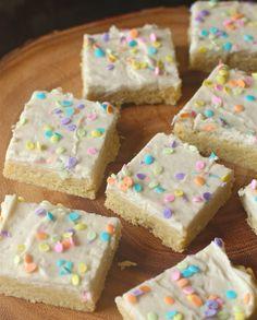 Frosted Vanilla Bean Shortbread Bars   The Seaside Baker