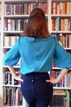 Tilly's button-back blouse- absolutely adorable and in great colors!