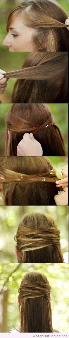 Overlapping half-up half-down tutorial