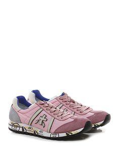 PREMIATA - Sneakers - Donna - Sneaker in tessuto tecnico e camoscio con suola in gomma. Tacco 25. - 1447 PINK - € 183.00
