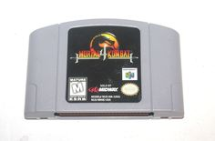 Vintage 1996 Mortal Kombat 4 Game Nintendo 64, Nintendo Games, Vintage Toys, Antique Alchemy