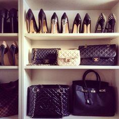 Walk in closet design I like.