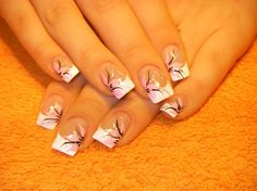 Opting for bright colours or intricate nail art isn't a must anymore. This year, nude nail designs are becoming a trend. Here are some nude nail designs. French Manicure Nail Designs, Cute Nail Designs, Acrylic Nail Designs, Manicure And Pedicure, French Manicures, Pedicure Designs, Acrylic Nails, French Nails, Pedicures