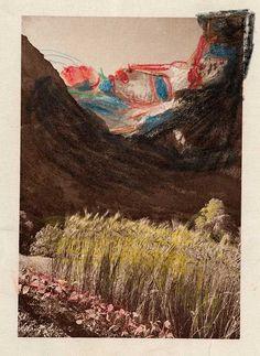 Aloïse Corbaz (1886-1964), Switzerland   Deux profils dessinés dans les montagnes, 1941-1951   coloured pencil   24.5 x 16 cm   © photo credit  Collection de l'Art Brut, Lausanne
