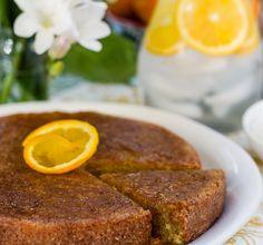 favorite recipes Clodagh McKenna's recipe for Moroccan Orange Cake, as seen in her cookbook, Clodagh's Kitchen Diaries (Kyle Books, Orange Recipes, Sweet Recipes, Cake Recipes, Dessert Recipes, Moroccan Desserts, Moroccan Dishes, Morrocan Food, Bakers Kitchen, International Recipes