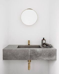Design in concrete and gold