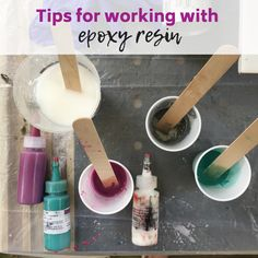 Tips for working with epoxy resin - Resin Obsession - Resin crafts - Tips for working with epoxy resin from an experienced resin artist. Get tips and tricks you can sta - Epoxy Resin Countertop, Epoxy Resin Table, Diy Epoxy, Epoxy Resin Art, Tips And Tricks, Resin Table Top, Resin Art Supplies, Resin Jewelry Making, Clay Jewelry