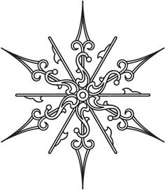 Clock Hands Snowflake | Urban Threads: Unique and Awesome Embroidery Designs $1 for PDF pattern