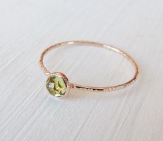 Peridot Ring, 14k Gold Ring, Rose Gold Ring, Rose Cut Ring, August Ring, Birthstone Jewelry, Stacking Ring, Engagement Ring, Custom Jewelry by Luxuring on Etsy https://www.etsy.com/uk/listing/197318892/peridot-ring-14k-gold-ring-rose-gold