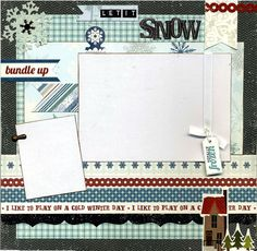 Layout was created using a mix of coordinating printed cardstock, coordinating die cut border, Totally Frozen sticker, photo anchor,