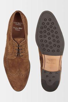 Hackett Full Suede Brogue Shoe - Shoes - Accessories | Hackett