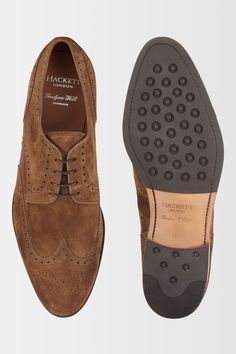 Hackett Full Suede Brogue Shoe - Shoes - Accessories | Hackett