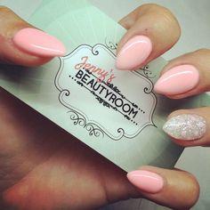 déco ongle gel amande court rose pastel #nail  #decoration
