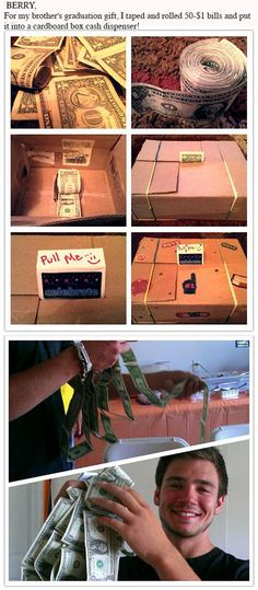 Money gift- might do this when my kids are bigger