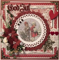 Är så glad, jag hade turen att vinna julkortsutmaning #13 i Facebookgruppen 48-timmars scraputmaningar med detta kort. ------------------...