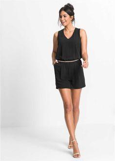 Jumpsuit zwart - BODYFLIRT - bonprix.nl Flirt, Playsuit, Dresses For Work, Rompers, Elegant, Outfits, Inspiration, Black, Fashion