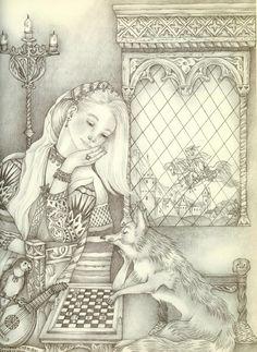 The Golden Bird #2 (Illustrations to L'Oiseau D'Or -The Golden Bird) - Adrienne Segur