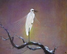 白鷺の四季 (秋・冬)  /  91 × 72.7cm (個展 1986)