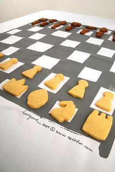 Edible Chess Set by Tattfoo Tan. I think my game would be better if I was trying to take pieces to eat.