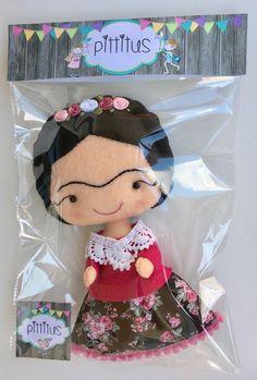Muñeca Frida Kahlo muñeca niña regalo personalizado hecho a