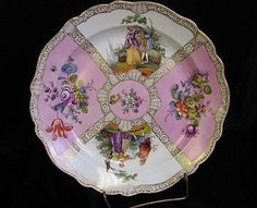 """12.5"""" Unusual OLD Large Meissen decorative Charger"""