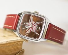 Mens watch Soviet upcycled watch him wristwatch Star by SovietEra