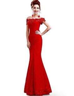 6e0d4022afa Babyonlinedress Sexy Elegant Robe de soirée Bal Cérémonie Longue ras au sol  en Dentelle
