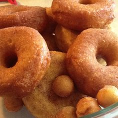 Cinnamon sugar donuts. Made this am. Yummy!