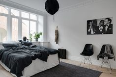 Simple monochrome home | @andwhatelse