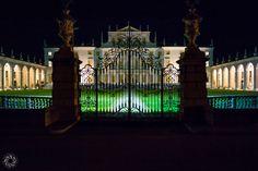The Illuminated Facade of Villa Manin