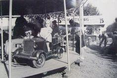 girls on mini-car carousel at Memphis Fairgrounds, c. 1930s