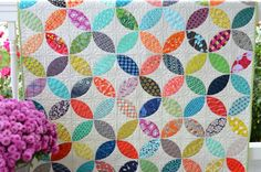 I started this quilt over a year ago. I seem to have a thing for petals and leaf shapes. Theres...