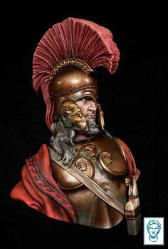 Alexander Models - Leonidas, Thermopylae 480 b. Greek History, Roman History, Greek Warrior, Fantasy Warrior, Ancient Rome, Ancient Greece, Greco Persian Wars, Armadura Medieval, Warrior Spirit