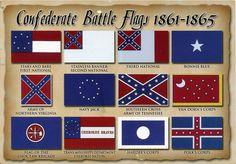 Confederate Battle Flags 1861 - 1865