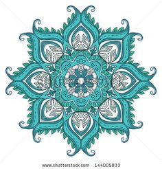Vector floral design. Blue Decorative Lotus