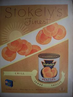 Hey, I found this really awesome Etsy listing at https://www.etsy.com/listing/115405613/kitchen-print-1949-stokelys-peaches