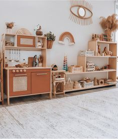 Create a unisex playroom with earthy colours