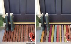 Make it yourself wooden doormat made with 2x2, rope, clear tubing instead of knots and maybe a little paint.  Mega, mega, mega <3