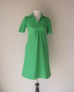 VIntage Kelly Green 1960s Mod Scooter Dress by hipandvintage